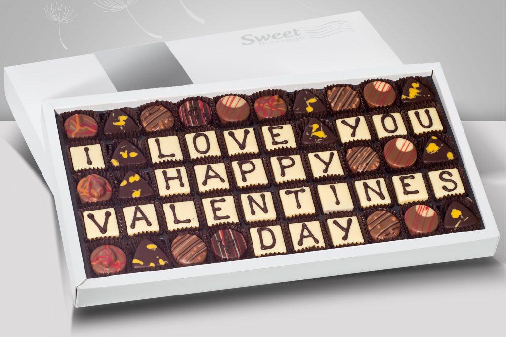Słodka wiadomość na Walentynki